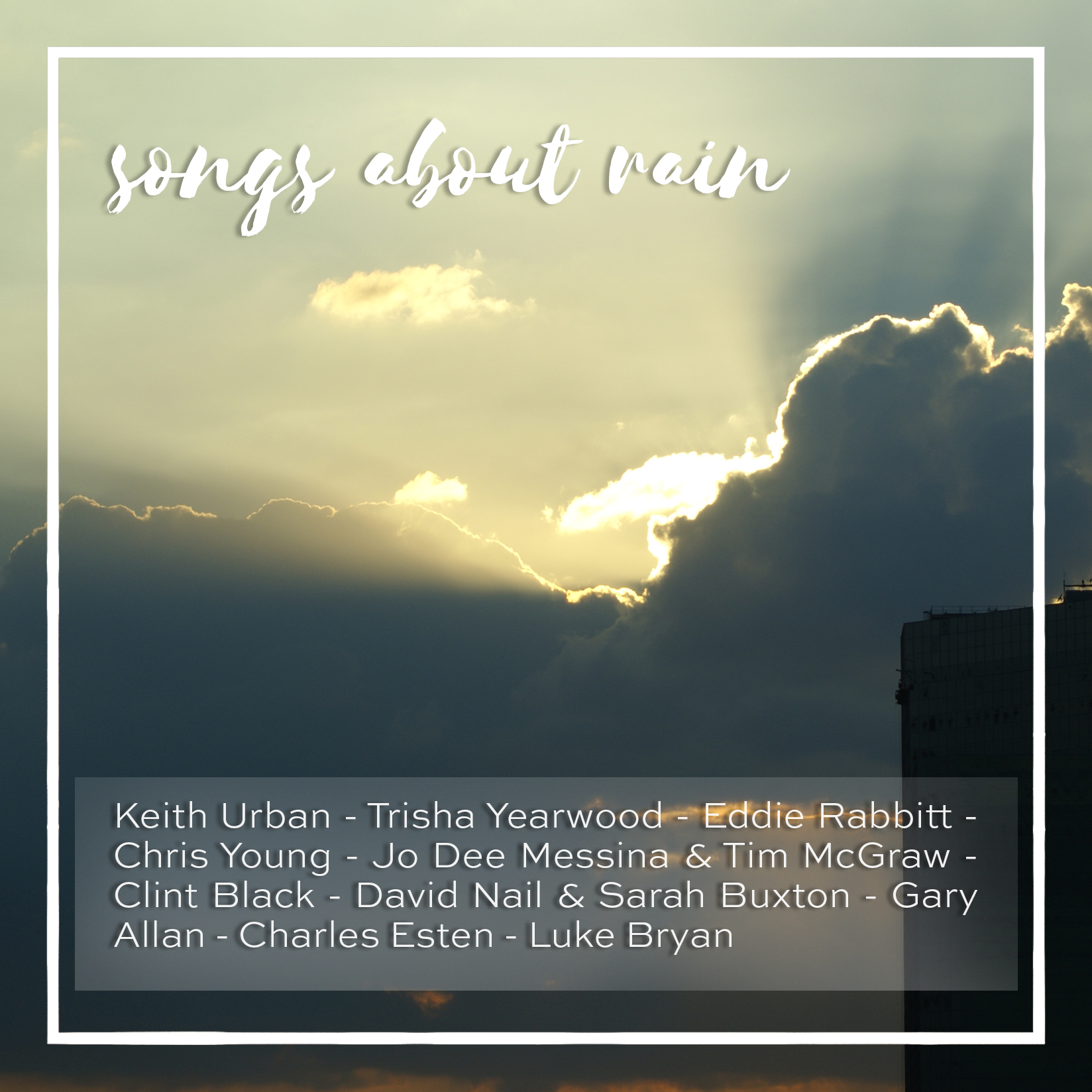 weekly playlist #19: songs about rain